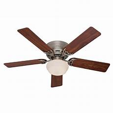 Add Light To Hunter Ceiling Fan Hunter Low Profile Iii Plus 52 In Indoor Antique Pewter