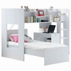 wizard white bunk bed with storage modern bunk beds fads