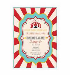 Carnival Theme Party Invitations Templates Circus Carnival Party Invitations