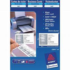 Avery Business Cards 10 Per Sheet Avery C32011 25 Business Cards 85 0 X 54 0 Mm 10 Cards