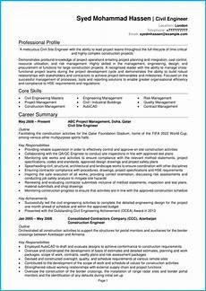 Civil Supervisor Cv Sample Civil Engineer Cv Example Writing Guide Secure The Best