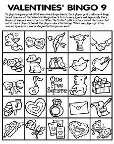 Bingo Coloring Pages Valentines Bingo 9 Coloring Page Crayola Com
