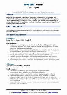 Gis Resume Gis Data Analyst Resume May 2020
