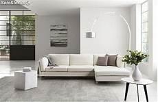 sofa de cuero estilo moderno de color blanco