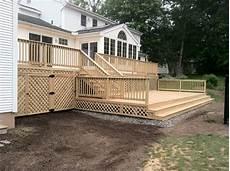 Two Level Deck Designs Deck Construction Two Level Decks Custom Built Deck