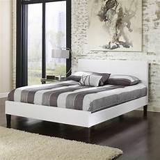 white leather upholstered platform bed frame bedroom
