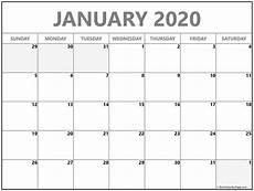 Printable Monthly Calendar January 2020 January 2020 Calendar Free Printable Monthly Calendars