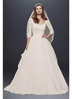 as is organza 3 4 sleeved wedding dress david s bridal