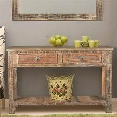 Rustic Wood Sofa Table 3d Image by Rustic Reclaimed Wood Naturally Distressed Console Table