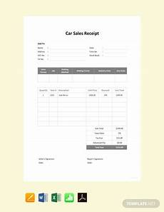 Car Sale Receipt Template Free Car Sale Receipt Template Pdf Word Doc Excel