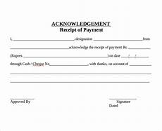acknowledgement receipt template for payment 18 acknowledgement letter exles editable pdf word