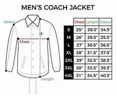 Coach Jacket Size Chart Size Chart Mens Coach Jacket Inkaddict