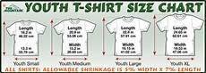 Youth Large Size Chart T Shirt Sizing