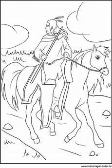 Malvorlagen Indianer Zum Ausdrucken Lassen Indianer Auf Einem Pferd Ausmalbild Zum Kostenlosen
