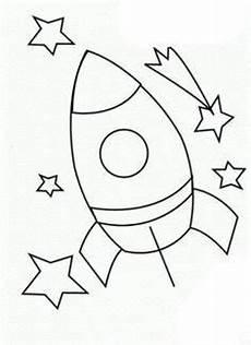 Malvorlagen Rakete Weltraum Ganz Einfache Rakete Ausmalbild Dekoideen Weltraum