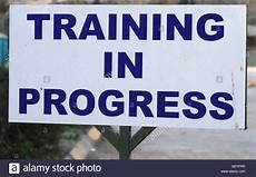 Training In Progress Sign Training In Progress Sign Midrand South Africa Stock