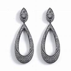 Best Replica Designer Jewelry Twisted Tear Drop Pave Formal Event Earrings Best