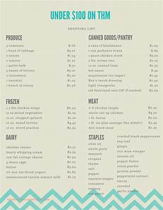 Meal List Cheap Healthy Meal Plan For Trim Healthy Mama