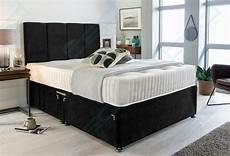 manhattan divan bed set with memory mattress headboard