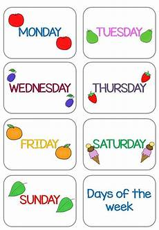 Printable Days Of The Week Chart Days Of The Week Flashcards New Amp Updated Teach