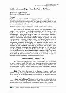 Research Paper Write Pdf Writing A Research Paper From The Parts To The Whole