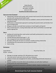 Resume The Work How To Write A Perfect Social Worker Resume Examples