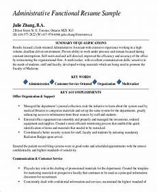 Administrative Functional Resume 9 Functional Resume Examples Amp Templates