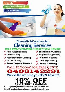 Cleaning Flyer Ideas Best Cleaning Service In Perth Perth Professional Cleaners