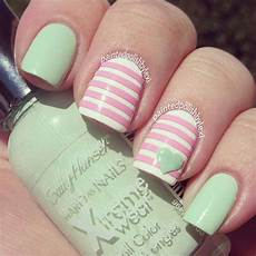 Light Pink And Green Nails 40 Elegant And Amazing Green Nail Art Designs That Will