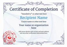 Generic Certificate Of Completion Certificate Of Completion Free Quality Printable