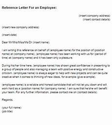 Writing A Reference Letter For An Employee Reference Letter For An Employee Sample Just Letter