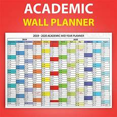 Summer Planner Calendar Academic Mid Year Wall Planner Calendar Holiday Summer