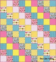 patchwork design sew fabric fq frenzy craving cupcakes