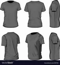 Tshirt Design Template Mens Black Short Sleeve T Shirt Design Templates Vector Image