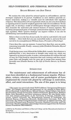 Essay On Self Motivation Pdf Self Confidence And Personal Motivation
