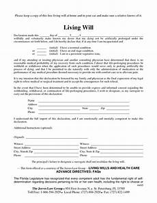 Free Downloadable Will Forms Living Will Sample Free Printable Documents