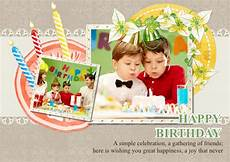 collage birthday card template greeting card sles templates photo greeting cards