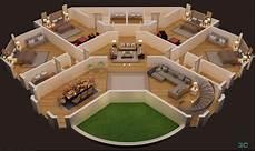 3d Floor Plans Software Free 3d Floor Plan Of Luxury Villa Second Floor 3dmili 2020