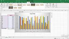 Style Chart Chart Styles Excel 2016 Charts Youtube