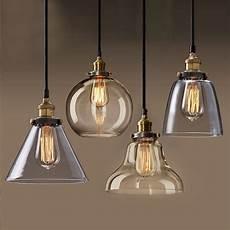 Large Glass Pendant Light Fixtures Hanglamp Pendant Lamp Copper Glass Restaurant Pendant