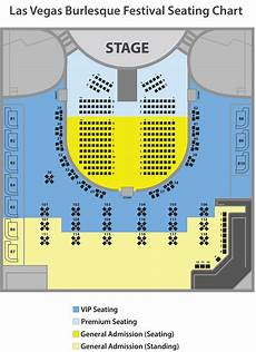 X Burlesque Seating Chart Seating Chart