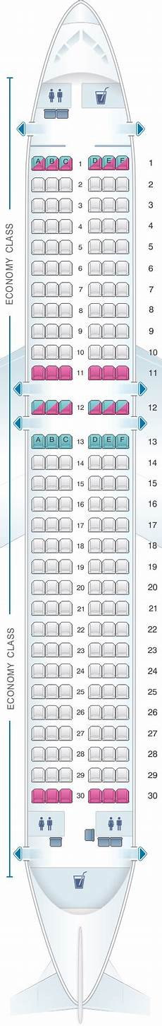 Airbus A320 214 Seating Chart Seat Map Smartlynx Airbus A320 200 180 Pax Seatmaestro