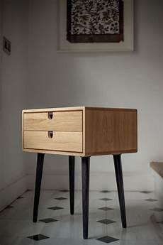mid century scandinavian bedside table nightstand two