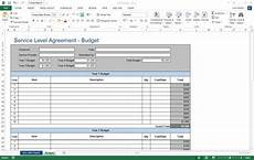 Spreadsheet Service Service Level Agreement Sla Template Ms Word Excel