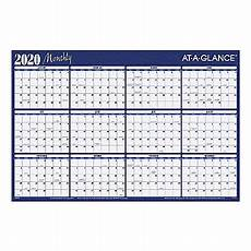 at a glance calendar 2020 at a glance erasable yearly calendar a102 20 office depot
