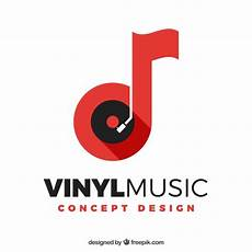 Music Note Logo Music Logo With Note And Vinyl Vector Free Download