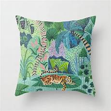 jungle tiger throw pillow by amberstextiles society6