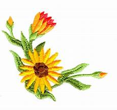 sunflower corner embroidery designs machine embroidery