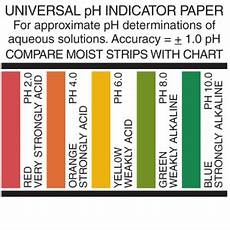 Silver Testing Solution Color Chart Universal Ph Test Paper Experiment Precision Laboratories