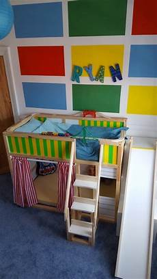 toddler sized bunk bed with slide and den ikea hackers